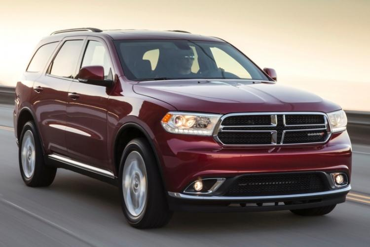 2014 Burgundy Dodge Durango Limited AWD (1C4RDJDGXEC) with an 3.6L V6 DOHC 24V engine, 8-Speed Automatic transmission, located at 711 Las Vegas Blvd, Las Vegas, NV, 89109, (888) 750-6845, 36.002834, -115.201302 - Photo #2