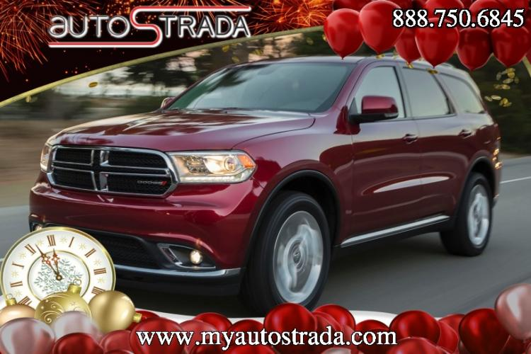 2014 Burgundy Dodge Durango Limited AWD (1C4RDJDGXEC) with an 3.6L V6 DOHC 24V engine, 8-Speed Automatic transmission, located at 711 Las Vegas Blvd, Las Vegas, NV, 89109, (888) 750-6845, 36.002834, -115.201302 - Photo #1
