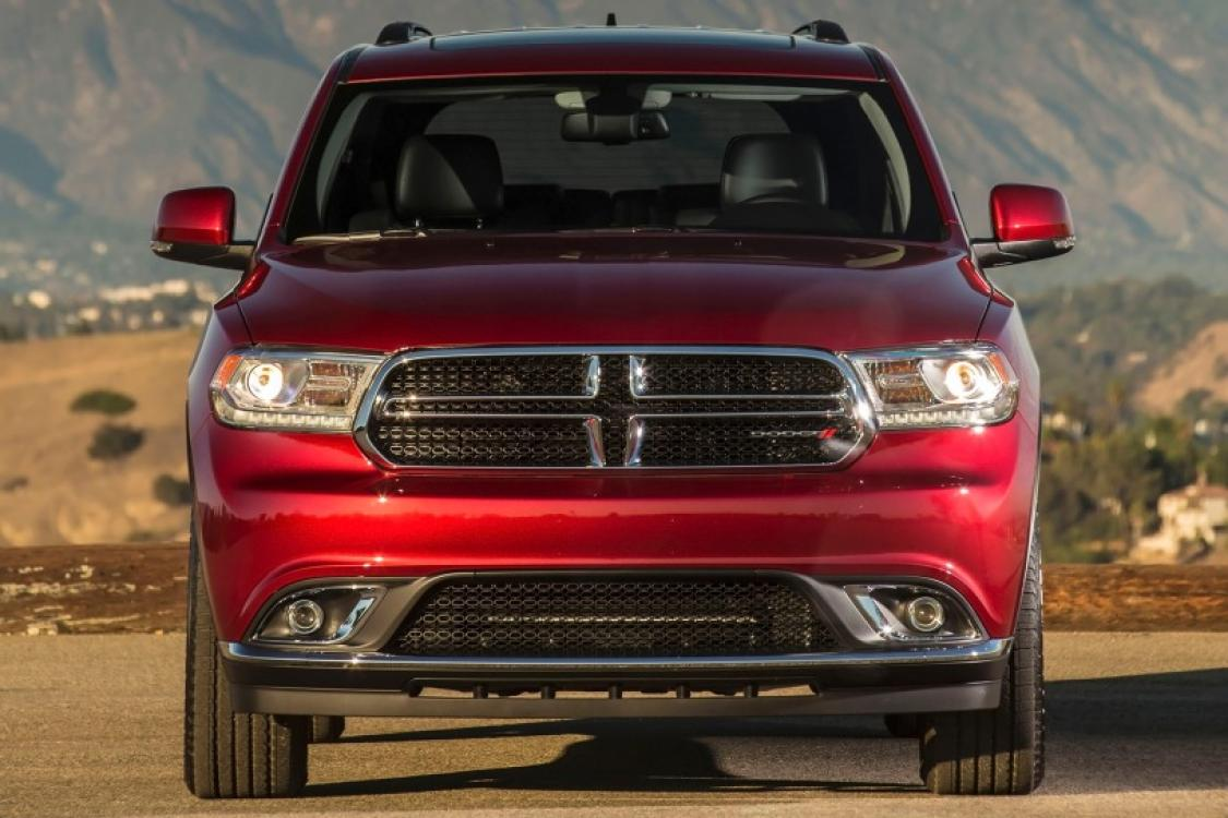 2014 Burgundy Dodge Durango Limited AWD (1C4RDJDGXEC) with an 3.6L V6 DOHC 24V engine, 8-Speed Automatic transmission, located at 711 Las Vegas Blvd, Las Vegas, NV, 89109, (888) 750-6845, 36.002834, -115.201302 - Photo #6