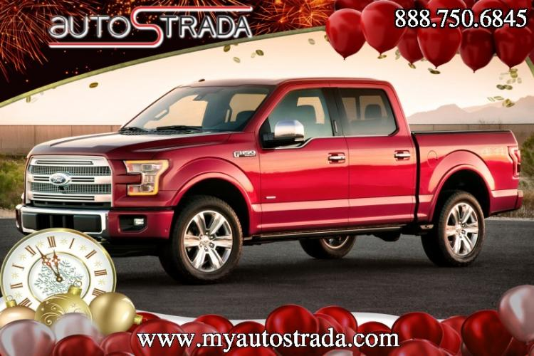 2015 Red /Maroon Ford F-150 XLT SuperCrew 6.5-ft. Bed 4WD (1FTEW1CG7FK) with an 3.5L V6 TURBO engine, 6-Speed Automatic transmission, located at 1313 Las Vegas Blvd, Las Vegas, NV, 89109, (888) 750-6845, 36.002834, -115.201302 - Photo #0